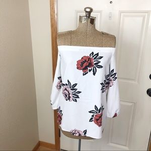 NWT Ann Taylor Rose Off The Shoulder Blouse